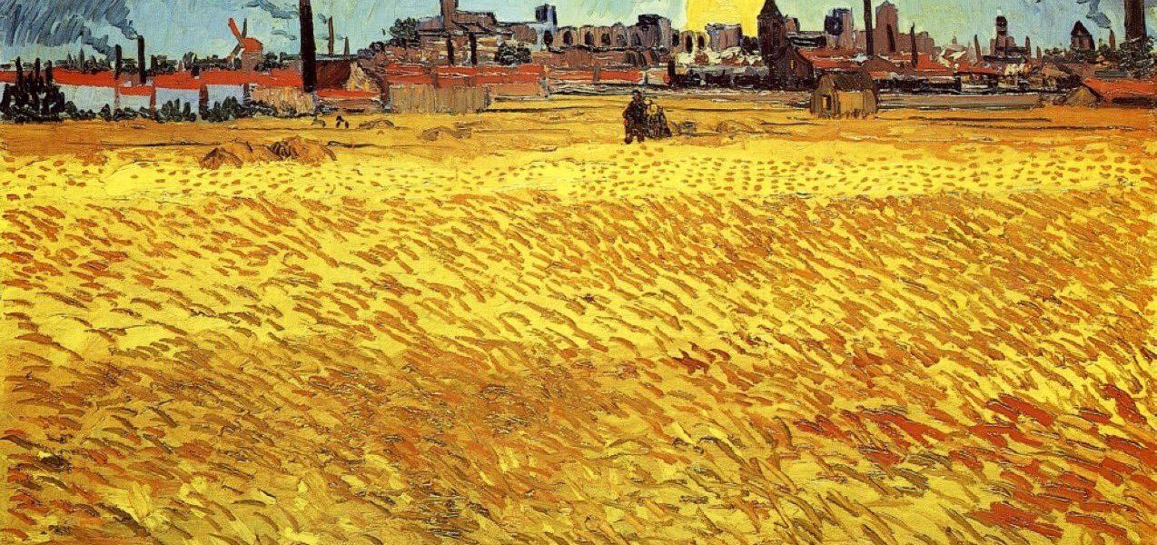 Van Gogh Campo di grano al tramonto